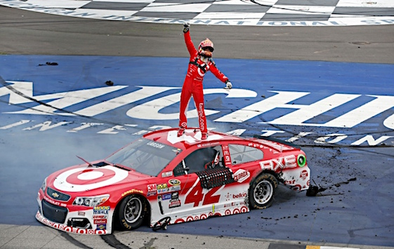 Kyle Larson drove to his first Sprint Cup Series victory on Sunday. (RacinToday/HHP photo by Alan Marler)