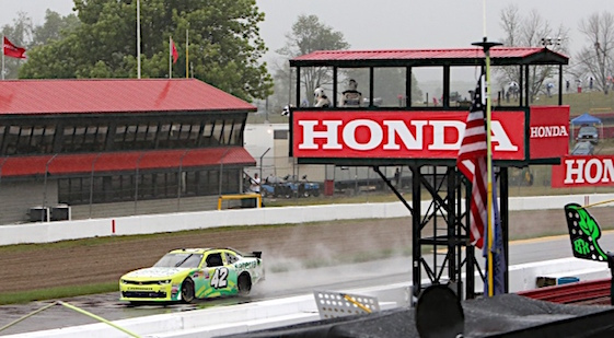 Justin Marks survived Saturday's deluge at Mid-Ohio to get his first-ever Xfinity Series victory. (RacinToday/HHP photo by Tim Parks)