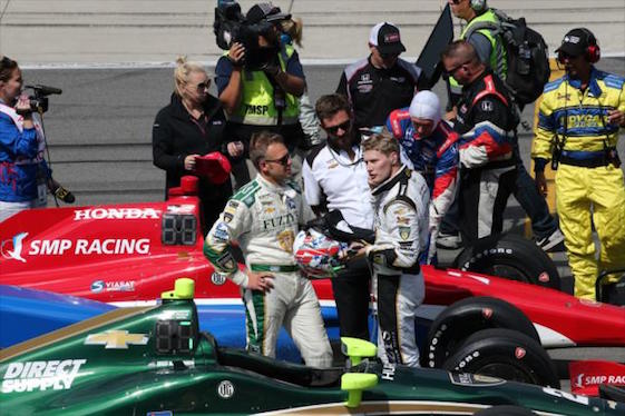Ed Carpenter is currently Josef Newgarden's team owner and teammate. That could change after the season. (Photo courtesy of INDYCAR)