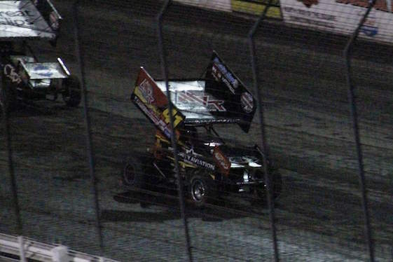 Jason Johnson held off Donny Schatz to win Knoxville on Saturday night.