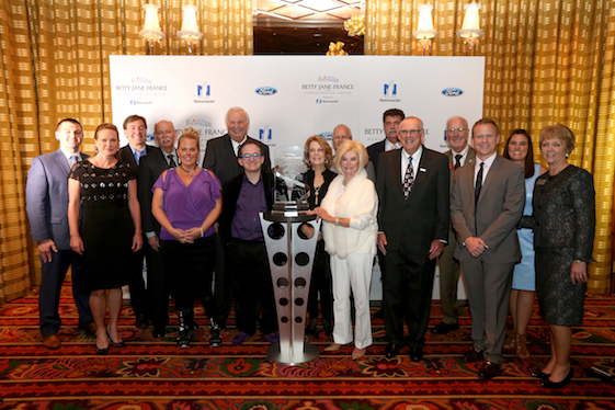 The Betty Jane France Award is named after a person who cared. (Photo by Chris Graythen/NASCAR via Getty Images)