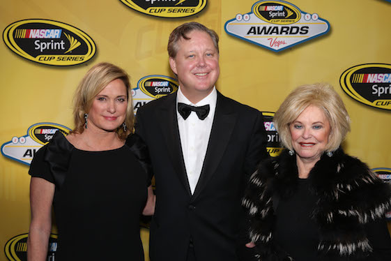 Betty Jane France, the mother of Lesa France Kennedy and Brian France, passed away on Monday. (Photo courtesy of NASCAR)