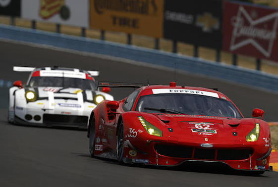 Risi Competizione has had a down year but hopes are high that the team's Ferrari 488s will pick up the pace at Road America. (Michael L. Levitt LAT Photo USA)