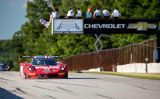 The No. 31 Action Express Racing Corvette Daytona Prototype driven by Dane Cameron and Eric Curran raced to victory Sunday at Road America in Elkhart Lake, Wis. (Photo by Richard Prince for Chevy Racing)