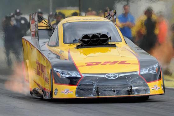 Del Worsham is shredding the Funny Car record book in Seattle. (Photo courtesy of the NHRA)