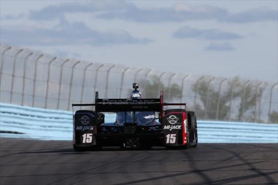 Graham Rahal hit the road at Watkins Glen for practice on Friday.