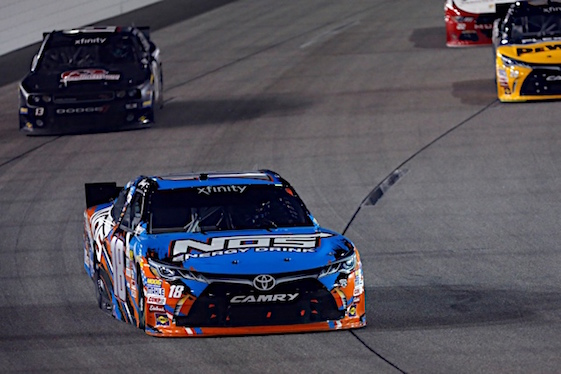 Kyle Busch made it look easy at Richmond on Friday night. (RacinToday/HHP photo by Andrew Coppley)