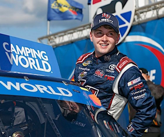 William Byron won the first ever NASCAR Trucks Series playoff race on Saturday. (RacinToday/HHP photo by Andrew Coppley)