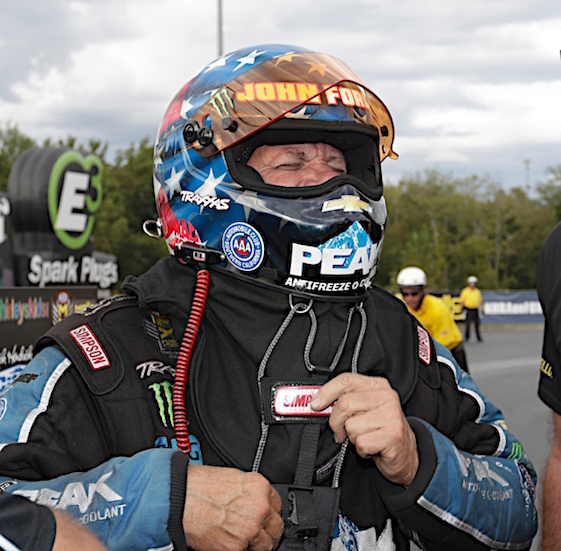 John Force added to his NHRA records on Sunday when he won in Concord, N.C. (RacinToday/HHP photo by Harold Hinson)