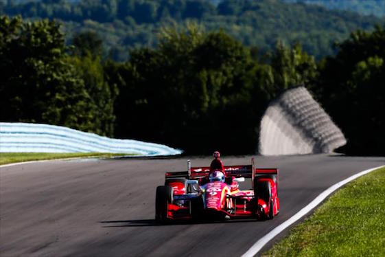 Scott Dixon of Chip Ganassi Racing was among the very fast in the opening day of practice at Watkins Glen on Friday. (Photo courtesy of INDYCAR)