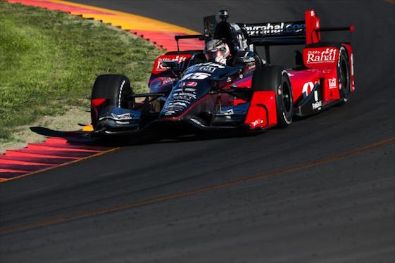 Graham Rahal takes Turn 8 during practice at The Glen. He talked about taking a future turn toward being a businessman and about his relationship with his father on Friday.