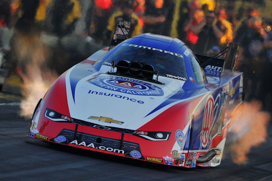 Robert High sped to the top spot in Funny Car qualifying on Friday. (Photo courtesy of the NHRA Mello Yello Drag Racing Series)