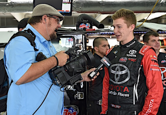 Survivor Matt Tifft has had his hard work and skills rewarded with a full-time Xfinity ride at Joe Gibbs Racing and is on his way to becoming a star. (RacinToday/HHP photo by Rusty Jarrett)