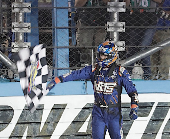 Kyle Busch added to his checkered flag collection on Saturday night by winning the Xfinity race in Phoenix. (RacinToday/HHP photo by Harold Hinson)