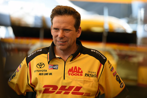 NHRA driver Del Worsham is on the move.
