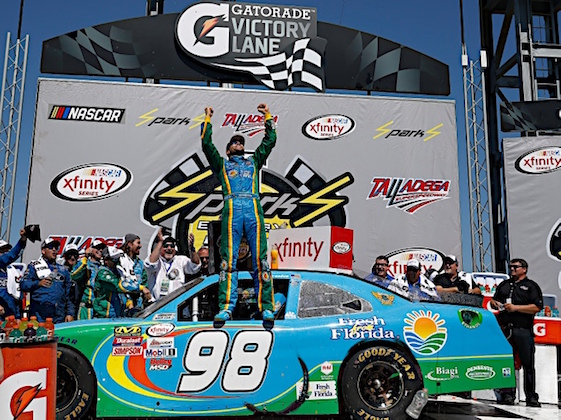 Aric Almirola wins Xfinity Series race at Talladega