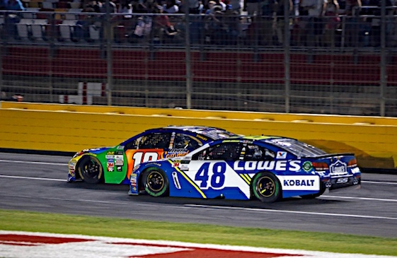 jimmie johnson in the no 48 chevy thought he had a shot at overtaking ...