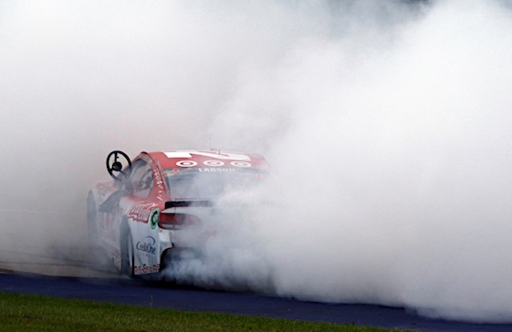 Larson holds on for anther win at MIS