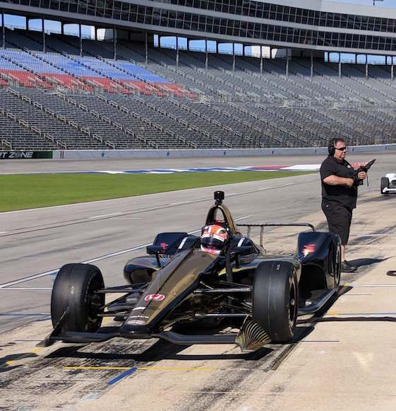 Racin' Today » New Indy Car Chassis Put Through Paces At TMS