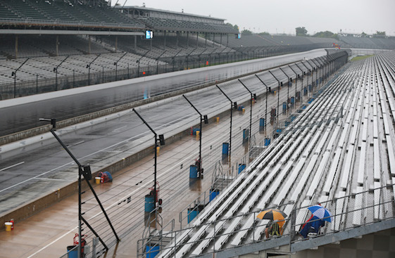 Rain Keeps NASCAR Cars Off Track In Indianapolis