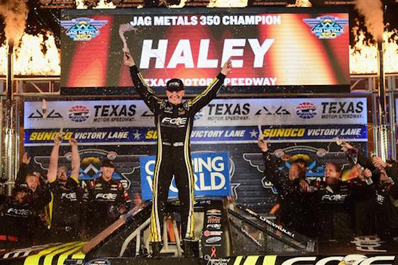 Haley wins at Texas, gets spot in championship finale